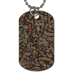 A Complex Maze Generated Pattern Dog Tag (two Sides)