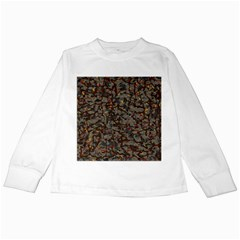 A Complex Maze Generated Pattern Kids Long Sleeve T Shirts