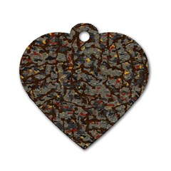 A Complex Maze Generated Pattern Dog Tag Heart (two Sides)