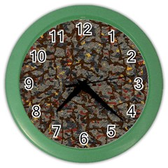 A Complex Maze Generated Pattern Color Wall Clocks