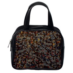 A Complex Maze Generated Pattern Classic Handbags (one Side)