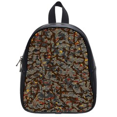 A Complex Maze Generated Pattern School Bags (small)