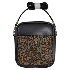 A Complex Maze Generated Pattern Girls Sling Bags