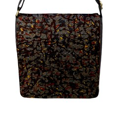 A Complex Maze Generated Pattern Flap Messenger Bag (l)