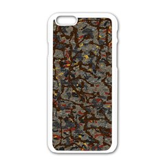 A Complex Maze Generated Pattern Apple Iphone 6/6s White Enamel Case