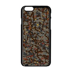 A Complex Maze Generated Pattern Apple Iphone 6/6s Black Enamel Case