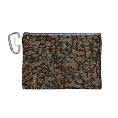 A Complex Maze Generated Pattern Canvas Cosmetic Bag (m)