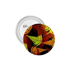 3d Red Abstract Fern Leaf Pattern 1 75  Buttons