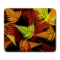 3d Red Abstract Fern Leaf Pattern Large Mousepads