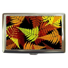 3d Red Abstract Fern Leaf Pattern Cigarette Money Cases