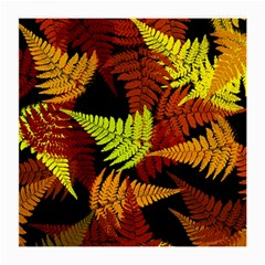 3d Red Abstract Fern Leaf Pattern Medium Glasses Cloth (2 Side)