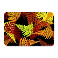 3d Red Abstract Fern Leaf Pattern Plate Mats