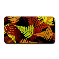 3d Red Abstract Fern Leaf Pattern Medium Bar Mats