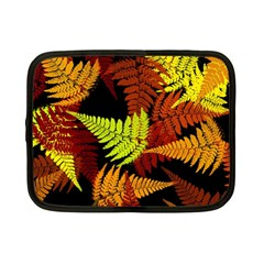 3d Red Abstract Fern Leaf Pattern Netbook Case (small)