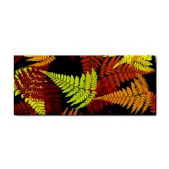 3d Red Abstract Fern Leaf Pattern Cosmetic Storage Cases