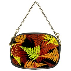 3d Red Abstract Fern Leaf Pattern Chain Purses (one Side)