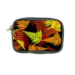 3d Red Abstract Fern Leaf Pattern Coin Purse
