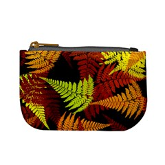 3d Red Abstract Fern Leaf Pattern Mini Coin Purses
