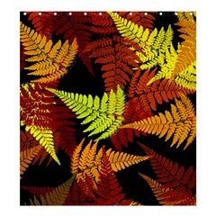 3d Red Abstract Fern Leaf Pattern Shower Curtain 66  X 72  (large)