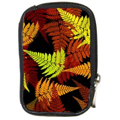 3d Red Abstract Fern Leaf Pattern Compact Camera Cases
