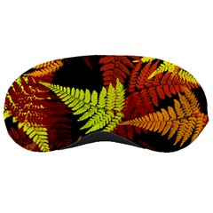 3d Red Abstract Fern Leaf Pattern Sleeping Masks