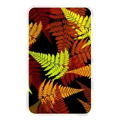 3d Red Abstract Fern Leaf Pattern Memory Card Reader