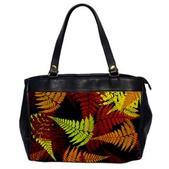 3d Red Abstract Fern Leaf Pattern Office Handbags