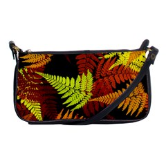 3d Red Abstract Fern Leaf Pattern Shoulder Clutch Bags
