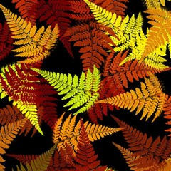 3d Red Abstract Fern Leaf Pattern Magic Photo Cubes