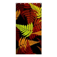 3d Red Abstract Fern Leaf Pattern Shower Curtain 36  x 72  (Stall)