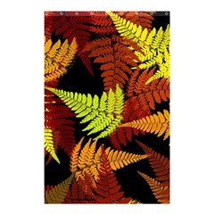 3d Red Abstract Fern Leaf Pattern Shower Curtain 48  X 72  (small)