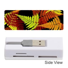3d Red Abstract Fern Leaf Pattern Memory Card Reader (stick)