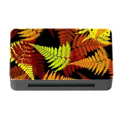 3d Red Abstract Fern Leaf Pattern Memory Card Reader With Cf