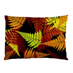 3d Red Abstract Fern Leaf Pattern Pillow Case (two Sides)