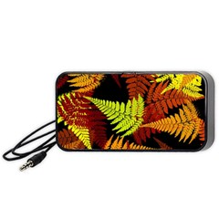 3d Red Abstract Fern Leaf Pattern Portable Speaker (black)