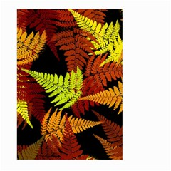 3d Red Abstract Fern Leaf Pattern Large Garden Flag (two Sides)