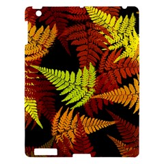 3d Red Abstract Fern Leaf Pattern Apple Ipad 3/4 Hardshell Case