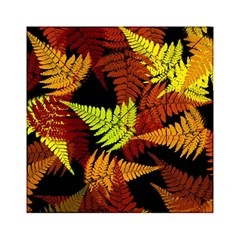 3d Red Abstract Fern Leaf Pattern Acrylic Tangram Puzzle (6  X 6 )