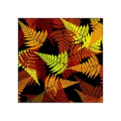 3d Red Abstract Fern Leaf Pattern Acrylic Tangram Puzzle (4  X 4 )
