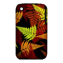 3d Red Abstract Fern Leaf Pattern Iphone 3s/3gs