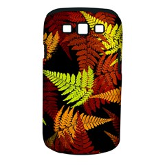 3d Red Abstract Fern Leaf Pattern Samsung Galaxy S Iii Classic Hardshell Case (pc+silicone)