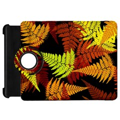 3d Red Abstract Fern Leaf Pattern Kindle Fire Hd 7