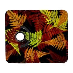 3d Red Abstract Fern Leaf Pattern Galaxy S3 (flip/folio)