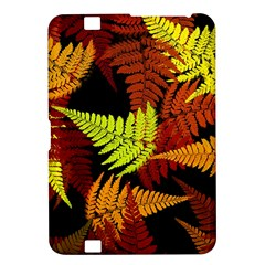 3d Red Abstract Fern Leaf Pattern Kindle Fire Hd 8 9