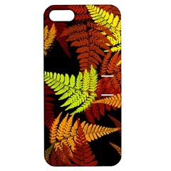 3d Red Abstract Fern Leaf Pattern Apple Iphone 5 Hardshell Case With Stand