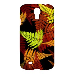 3d Red Abstract Fern Leaf Pattern Samsung Galaxy S4 I9500/i9505 Hardshell Case