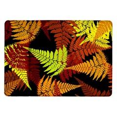 3d Red Abstract Fern Leaf Pattern Samsung Galaxy Tab 10.1  P7500 Flip Case