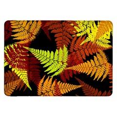 3d Red Abstract Fern Leaf Pattern Samsung Galaxy Tab 8 9  P7300 Flip Case