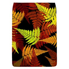 3d Red Abstract Fern Leaf Pattern Flap Covers (l)