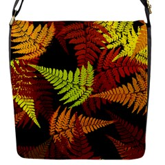 3d Red Abstract Fern Leaf Pattern Flap Messenger Bag (s)